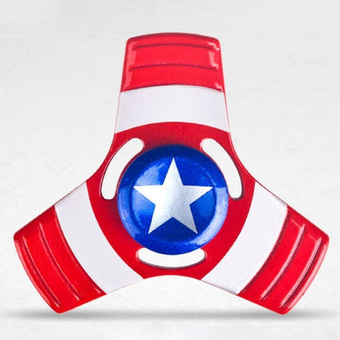 Captain Metallic Tri Fidget Spinner