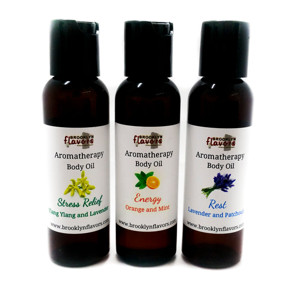 Brooklyn Flavors Aromatherapy Body Oil 3 types
