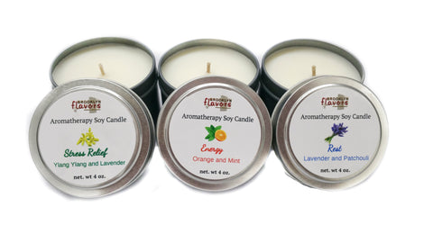 Brooklyn Flavors Aromatherapy Soy Candles 3 types