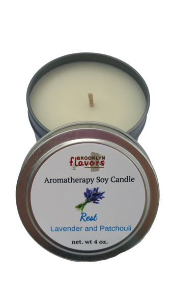 Brooklyn Flavors Aromatherapy Soy Candles Rest