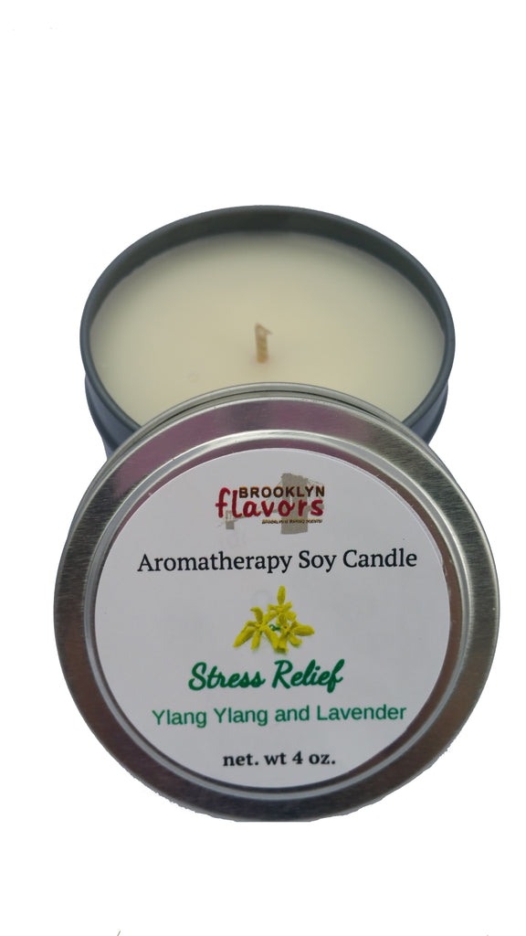 Brooklyn Flavors Aromatherapy Soy Candles Stress Relief