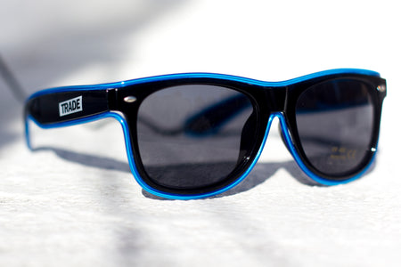 Neon Blue LED TRADE Shades