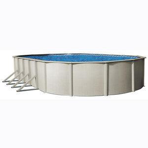 "24ft x 12ft Oval x 42"" Steel Wall Swimming Pool Package"