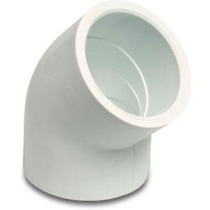 Swimming Pool 45 Degree Elbows 1.5 Inch White