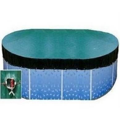 Above Ground Pool Oval Winter Debris Covers - World of Pools