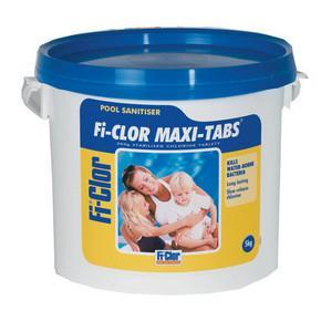 Fi-Clor Maxi Tabs 5kg - 200g Chlorine Tablets For Swimming Pools - World of Pools
