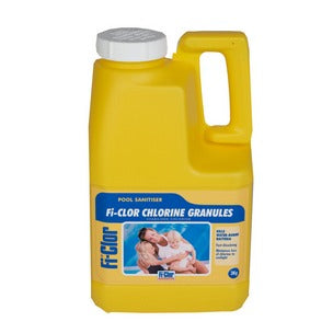 Fi-Clor Stabilised Chlorine Granules 3kg For Swimming Pools - World of Pools