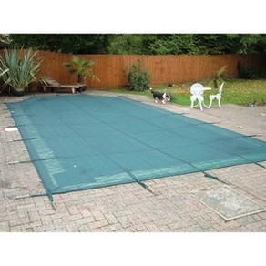 Plastica Deluxe Criss Cross Winter Debris Pool Cover + 5 ft Roman End - World of Pools
