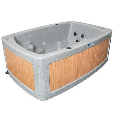 DuoSpa S080 2 Seat Hot Tub - Light Grey - Rotospa - World of Pools