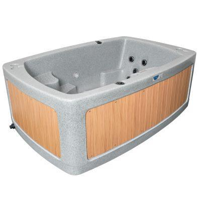 DuoSpa S240 2 Person Hot Tub - Light Grey - Rotospa - World of Pools