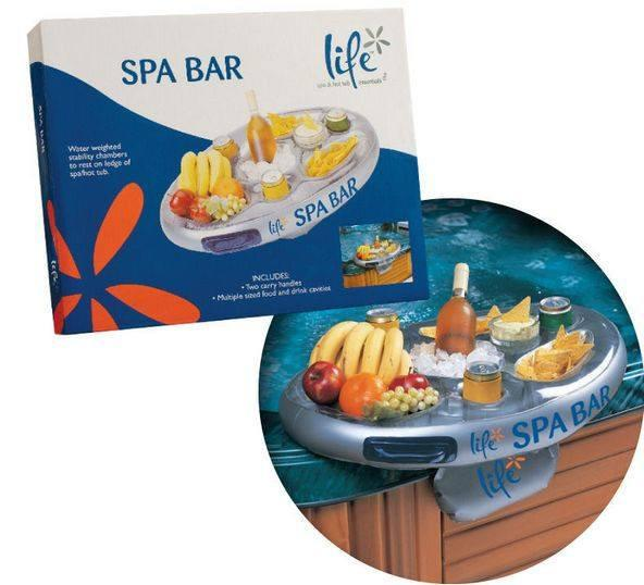 Floating Spa Bar Inflatable Hot Tub Side Tray by Life - World of Pools