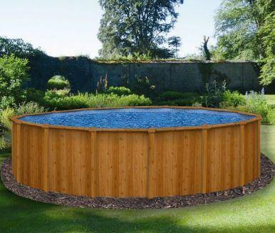 "Canyon Above Ground Swimming Pool - ""Wood Grain"" Effect - World of Pools"