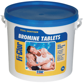 Fi-Clor Bromine Tablets - 5kg - For Pools & Hot Tubs - World of Pools