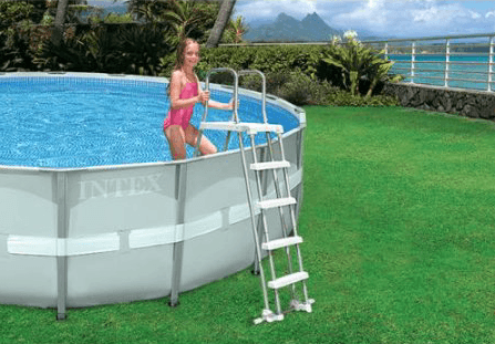 Intex Ladder For Above Ground Pools with Safety Removable Steps - World of Pools