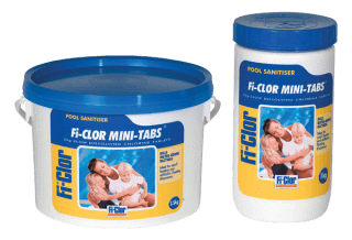 Fi-Clor Mini Tabs - Small Chlorine Tablets For Swimming Pools - World of Pools