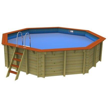 5.5m Hampstead Plastica Wooden Pool - Octagonal - World of Pools