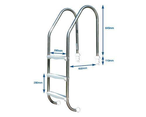 Plastica Standard Swimming Pool Ladder - World of Pools
