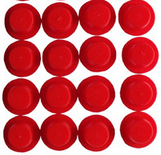 Red Plastic Plugs For Winter Debris Cover P Anchor Holes