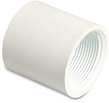 Swimming Pool Female Threaded Socket 1.5 Inch White PVC