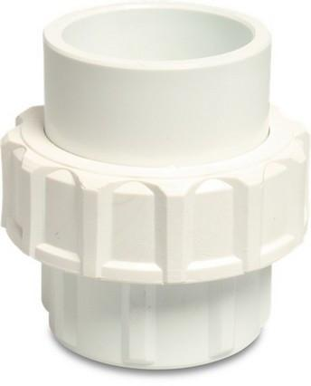 "Swimming Pool Socket Union Pipe / Pipe 1.5"" White PVC - World of Pools"