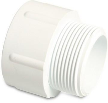Swimming Pool Threaded Socket 1.5 Inch White PVC