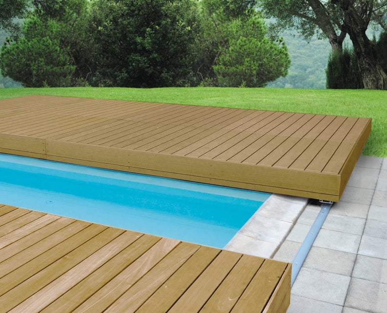 Walu Deck - Retractable Hot Tub & Swim Spa Timber Safety Decking Cover - World of Pools