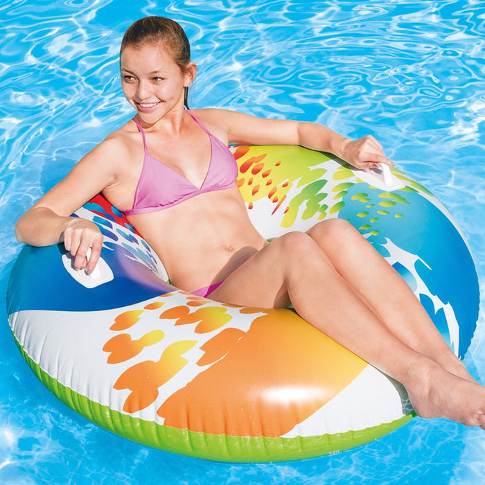 Intex Colour Whirl Tube Tyre Lounger #58202EU - World of Pools