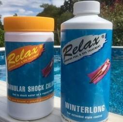 swimming pool closing chemical kit