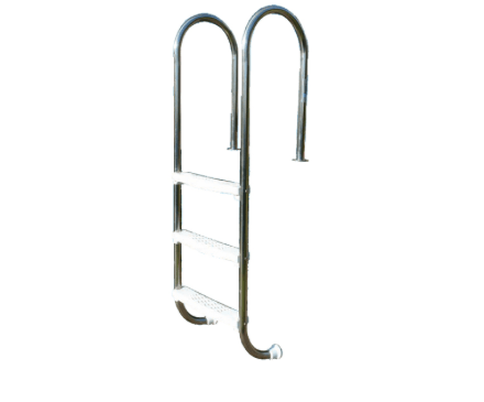 Plastica Wooden Pool Stainless Steel Ladder - World of Pools