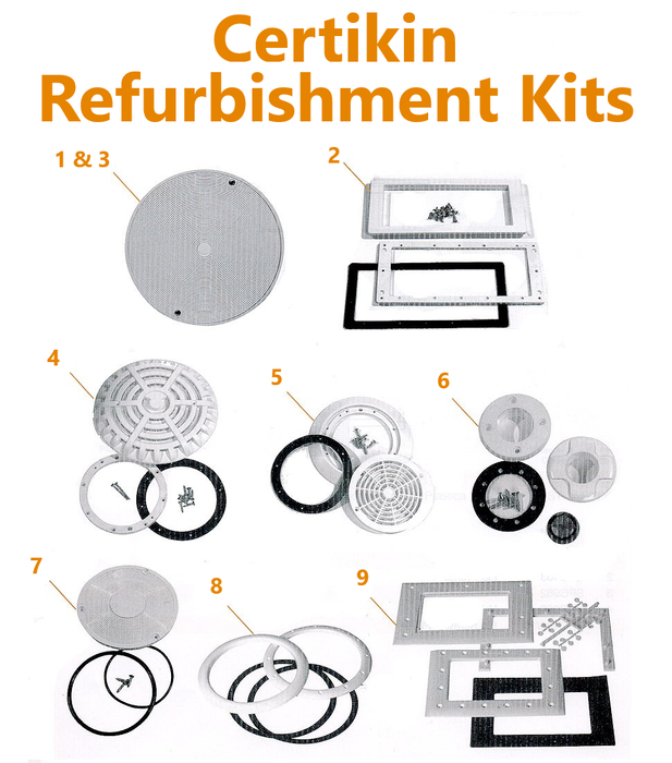 Certikin Refurbishment Kits - World of Pools