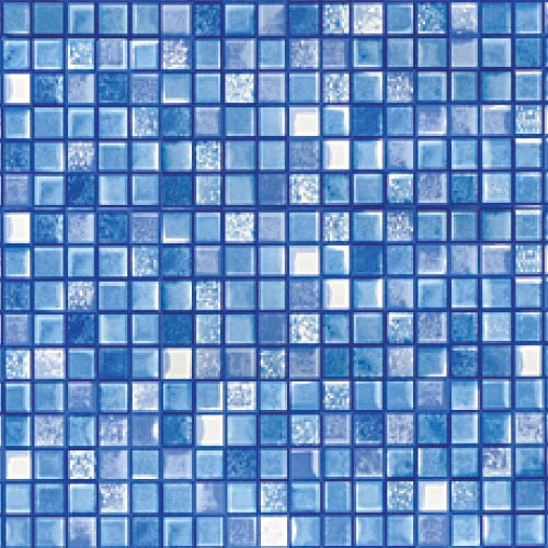 "Cube Tiled Pattern Overlap Liner For 48"" & 52"" High Above Ground Pools - World of Pools"