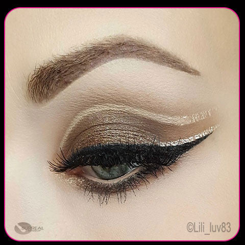 Fall Spark Eye Shadow on Open Eyelid by Surreal Makeup