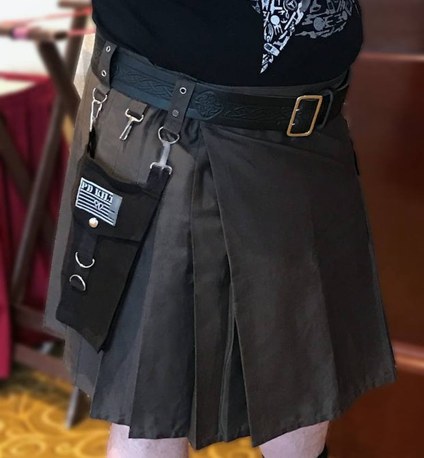 Discontinued – Men's 008 Steel Kilt with Interchangeable Black Pockets