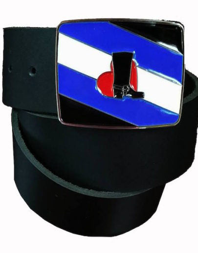 Bootblack Pride Flag Belt Buckle