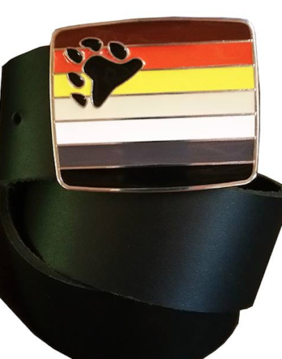 Bear Pride Flag Belt Buckle