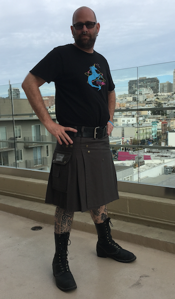 Men's Steel Gray Utility Kilt