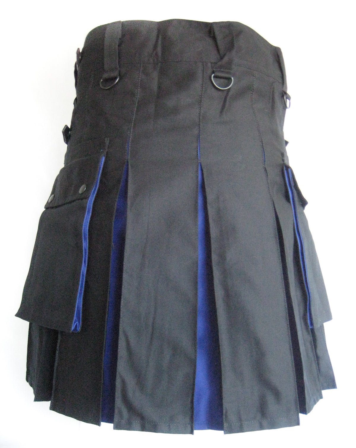 Men's Two-Tone Kilt - Black and Blue