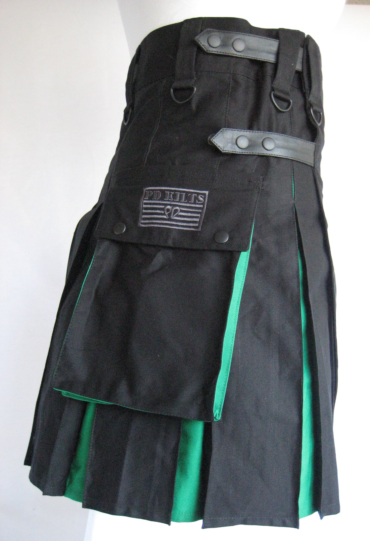 Men's Two Tone Black and Green