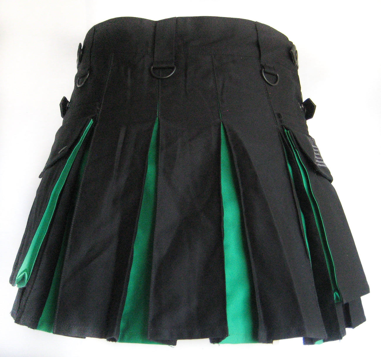 Women's Two Tone Kilt - Black and Green