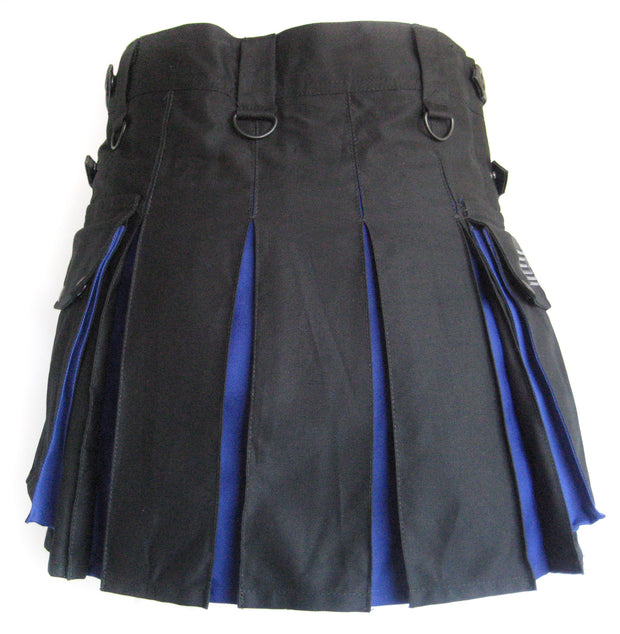 Women's Two-Tone Kilt - Black and Blue