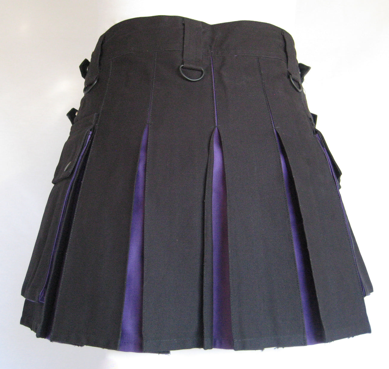 Women's Two-Tone Kilt - Black and Purple