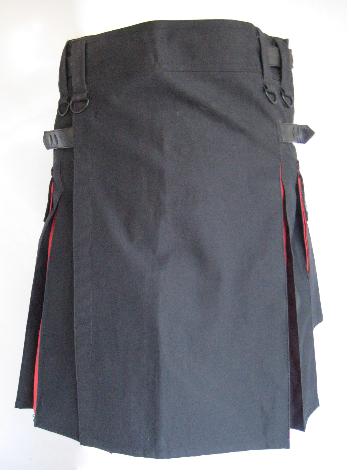 Men's Two-Tone Kilt - Black and Red