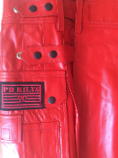 Men's Leather Matrix Kilt - Red