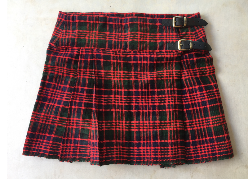 Discontinued – Women's Red Tartan Schoolgirl Kilt