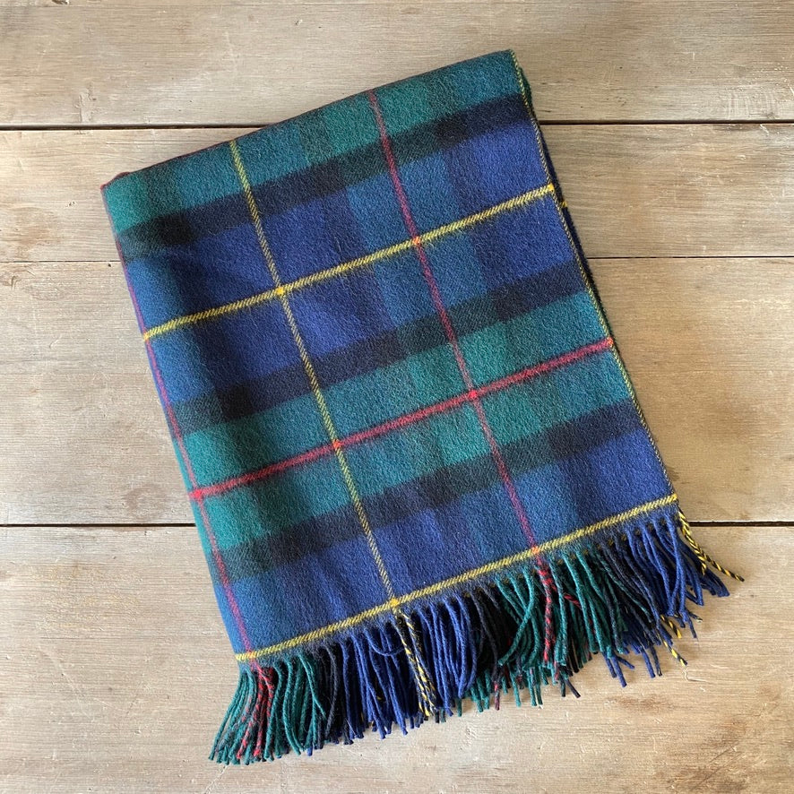 Scottish Lambswool Throw - Macleod of Harris Modern