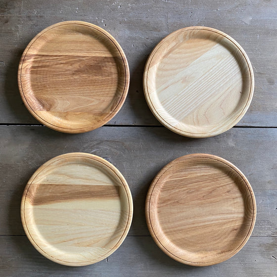 Hand-Carved Ash Plates by Farmhouse Pottery