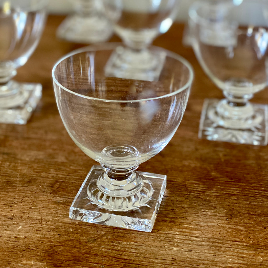 Set of Ten Antique French Cordial Glasses