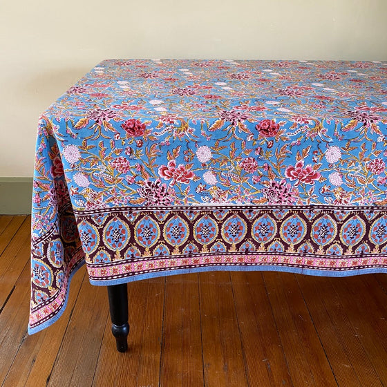 Phoenix Hand Block Printed Tablecloth