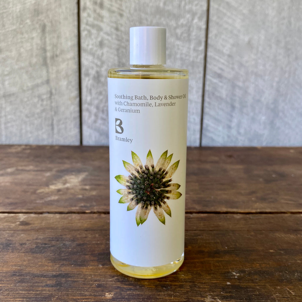 Soothing Bath, Body & Shower Oil by Bramley