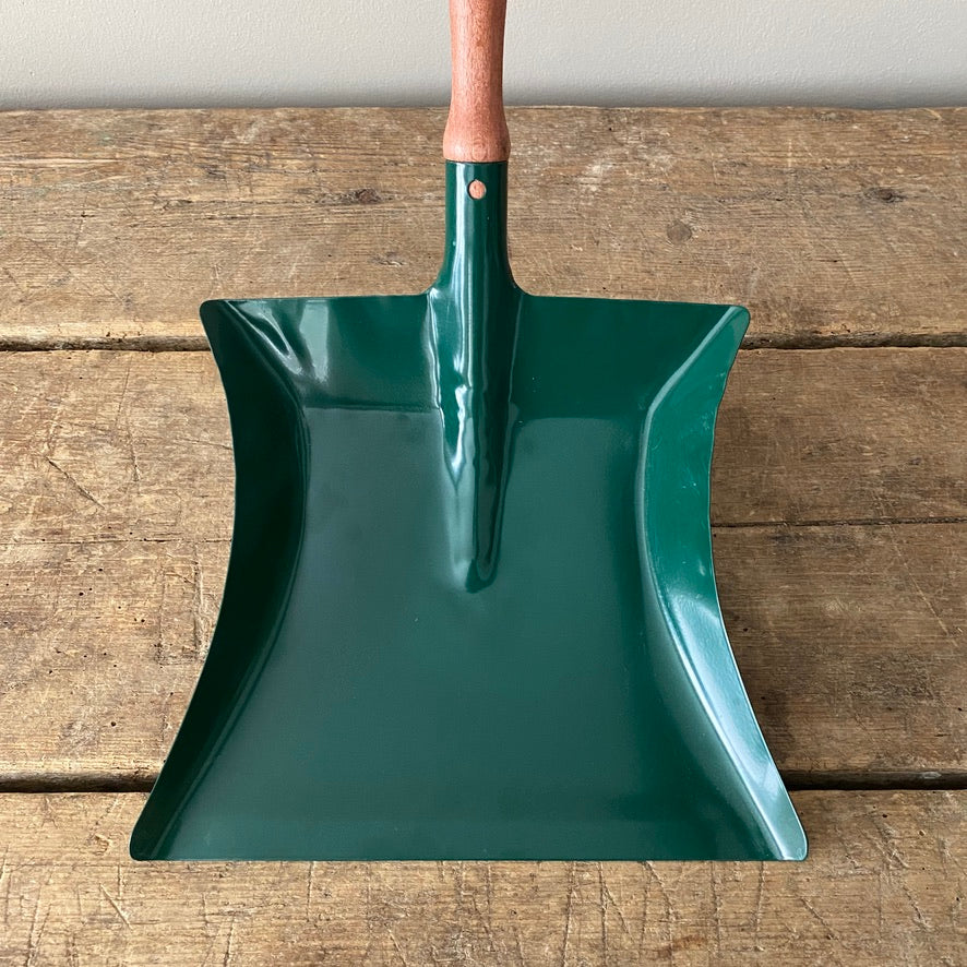Dark Green Dust Pan and Brush